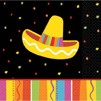 Fiesta Fun Beverage Napkin 16pc