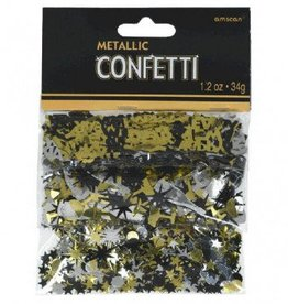 New Year Confetti Black/Gold/Silver