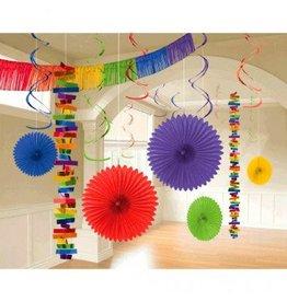 Paper Decorating Kit Rainbow Colours