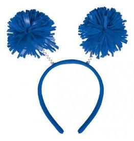 Blue Pom Pom Head Bopper