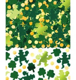 Green Shamrocks Big Pack Foil Confetti