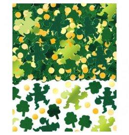 Green Shamrocks Big Pack Foil Confetti