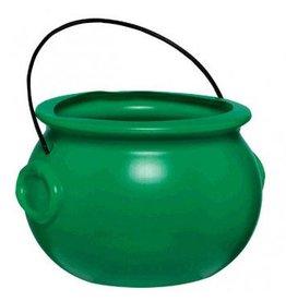 Plastic Pot Of Gold - Green