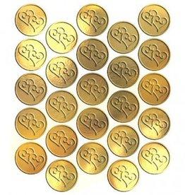 Gold Heart Metallic Seals