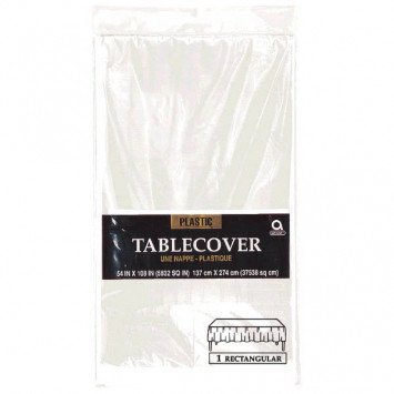 Clear Rectangular Plastic Tablecover