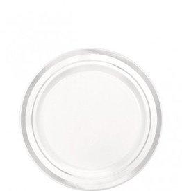 Silver Trim Premium Plates 20pc