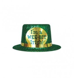 St Patricks Glitter Mini Top Hat