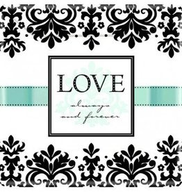 "Always & Forever 10"" Square Plates (8)"