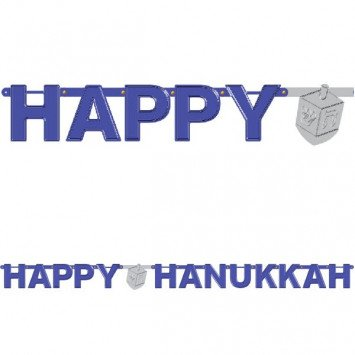 Banner Letter Large Foil Hannukkah