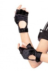 Fingerless Motorcycle Gloves Black