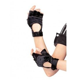Black Fingerless Motorcycle Gloves