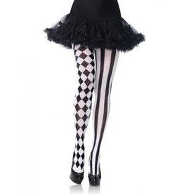 Black & White Harlequin Pantyhose