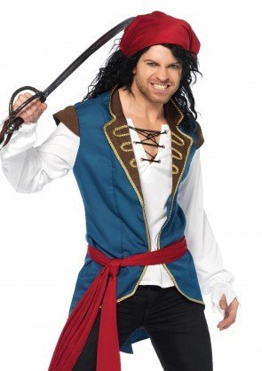 Men's Costume Pirate Scoundrel Medium/Large