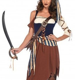 Women's Costume Caribbean Castaway Large
