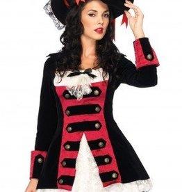 Women's Costume Charming Pirate Captain Medium
