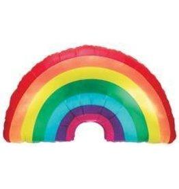 Large Rainbow Mylar Balloon