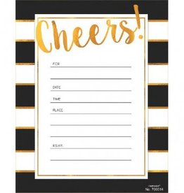 Golden Cheers Invitations, Value Pack