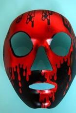 Full Face Skull Red & Black Mask