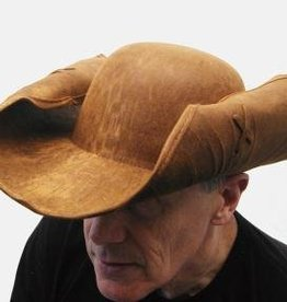 Pirate Hat Brown Leather