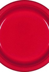 "Apple Red 7"" Plastic Plate (20)"