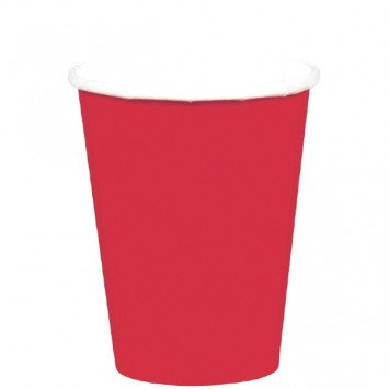 Apple Red 9oz Paper Cup (8)