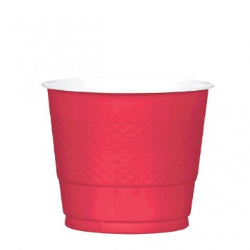 Apple Red 9oz Plastic Cup (20)