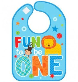 One Wild Boy Vinyl Baby Bib