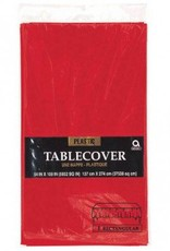 Apple Red Rectangular Plastic Tablecover