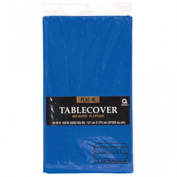 Bright Royal Blue Rectangular Plastic Tablecover