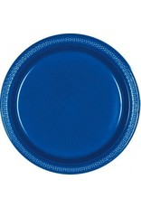"Bright Royal Blue 7"" Plastic Plate (20)"
