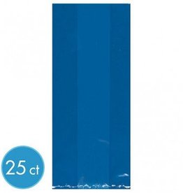 Bright Royal Blue Large Cello Party Bags  (25)