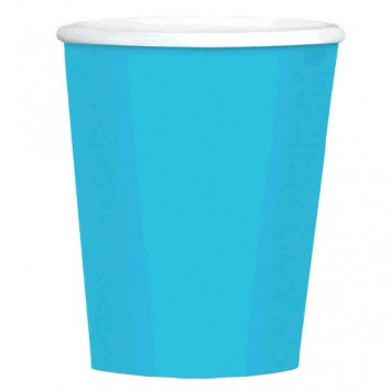 Caribbean Blue 9oz Paper Cup (8)
