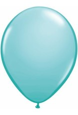 "11"" Caribbean Blue Qualatex Balloon 1 Dozen Flat"