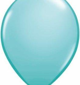 "11"" Caribbean Blue Qualatex Balloon 1 Dozen Flat"