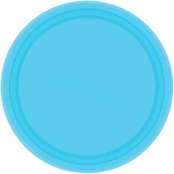 "Caribbean Blue 7"" Paper Plate (20)"