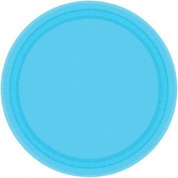 "Caribbean Blue 7"" Paper Plate (20)"