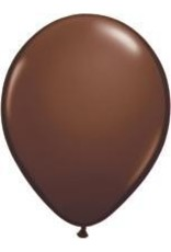"11"" Chocolate Brown Qualatex Latex Balloon 1 Dozen Flat"