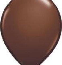 "11"" Chocolate Brown Qualatex Latex Balloon 1 Dozen Flat"