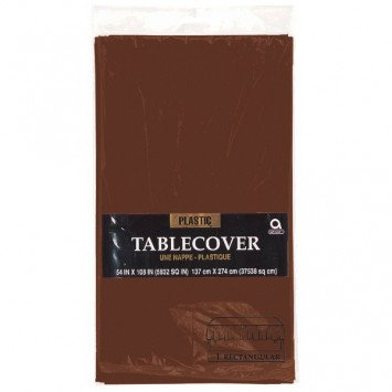 Chocolate Brown Rectangular Plastic Tablecover