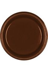 "Chocolate Brown 10.25"" Plastic Plate (20)"