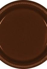 "Chocolate Brown 7"" Plastic Plate (20)"
