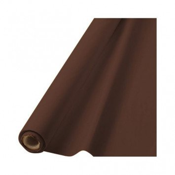 Chocolate Brown Solid Table Roll