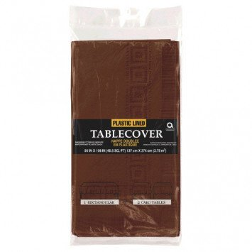 Chocolate Brown Paper Tablecover