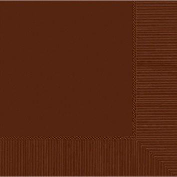 Chocolate Brown Beverage Napkins (20)