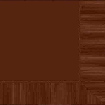 Chocolate Brown Lunch Napkins (50)