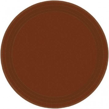 "Chocolate Brown 7"" Paper Plate (20)"
