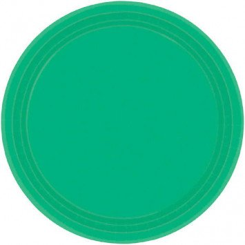"Festive Green 7"" Paper Plate (20)"