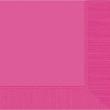 Bright Pink Lunch Napkins (50)