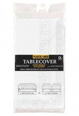 Frosty White Paper Tablecover