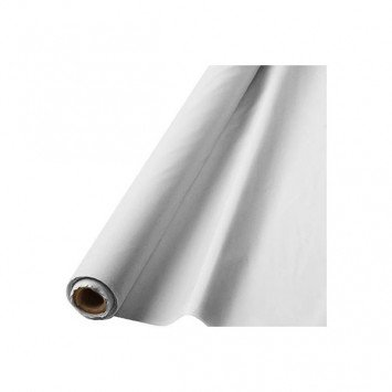 "Frosty White Solid Table Roll, 40"" x 100'"